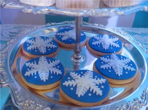冰雪蓝-欧式翻糖雪花饼干