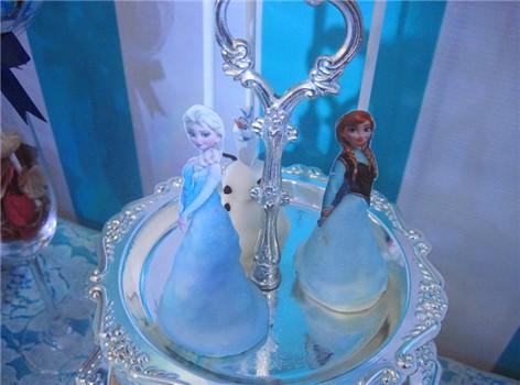 好看蓝色欧式甜点图片