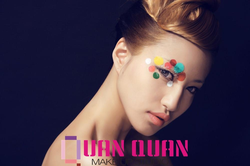 创意妆图片_【圈圈造型】创意妆:气泡