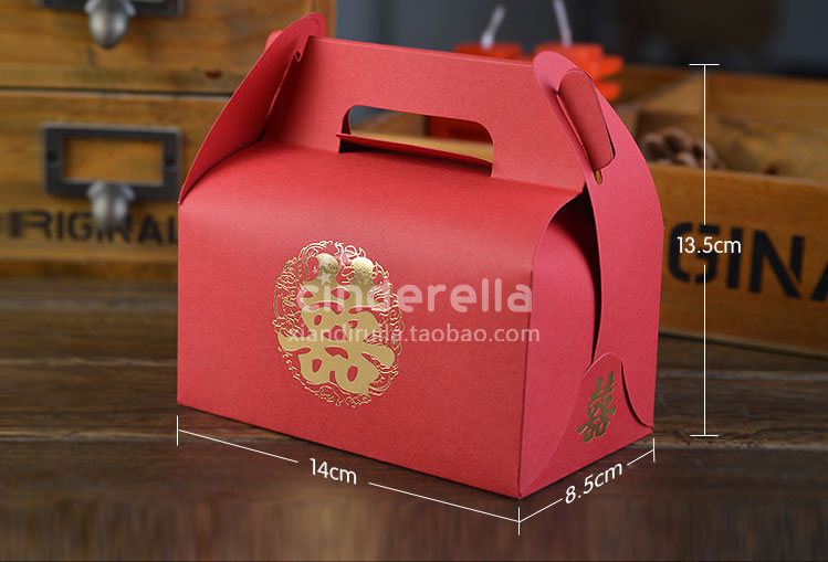 婚庆喜糖盒子批发结婚用品喜糖纸盒包装创意婚礼糖果盒中式喜糖袋