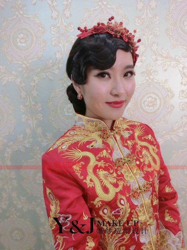 中式新娘美美的图片