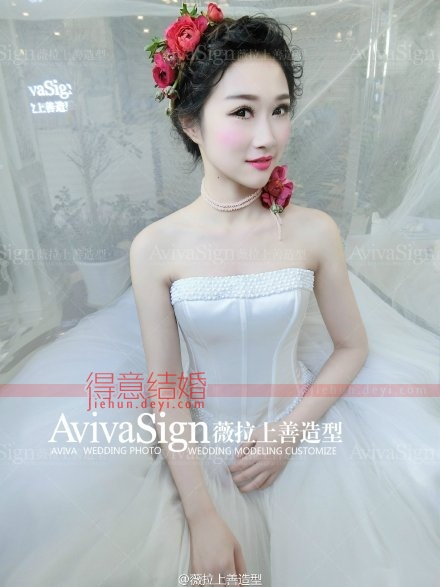花漾盘发_薇拉上善婚纱造型真人秀_武汉得意结婚网