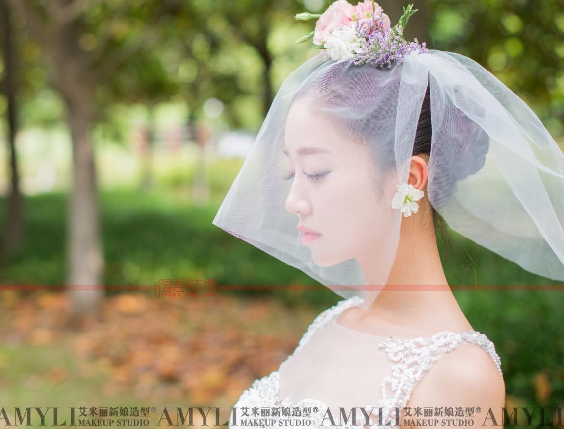 时尚头纱造型---夏琳老师作品_艾米丽新娘造型主题图片