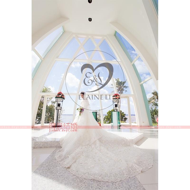 关岛彩虹教堂婚礼客片图1