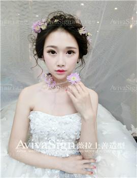 浪漫甜美的花漾新娘29_薇拉上善婚纱造型