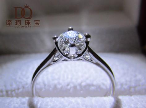 【谛珂珠宝】18k金结婚戒指