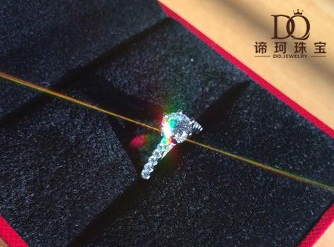 【谛珂珠宝】18k金71分钻石婚戒