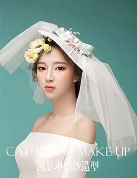 唯美新娘婚纱鲜花发型