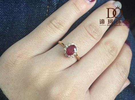 谛珂珠宝定制中心_【谛珂珠宝】18k金红宝石戒指