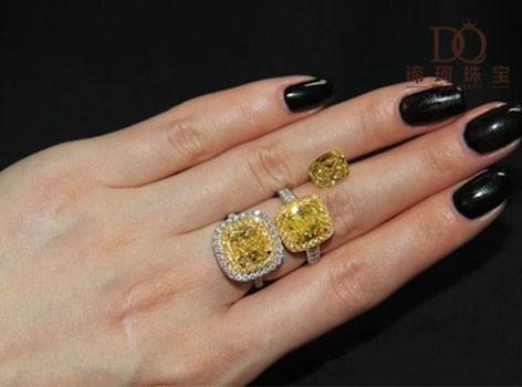 【谛珂珠宝】18k金50分黄钻戒指
