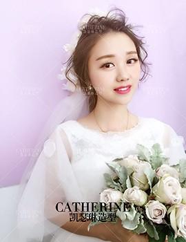 凯瑟琳婚纱造型_九月最新试妆   童童