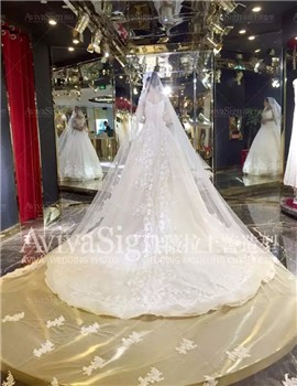 一袭婚纱带入了那幸福的陶醉时刻,简约而又华丽柔美!
