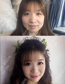 妆前妆后对比照