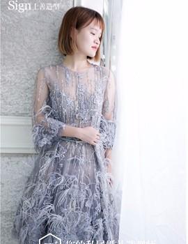 Sign薇拉上善礼服馆_拒绝一成不变,灰色礼服也可以美上天!