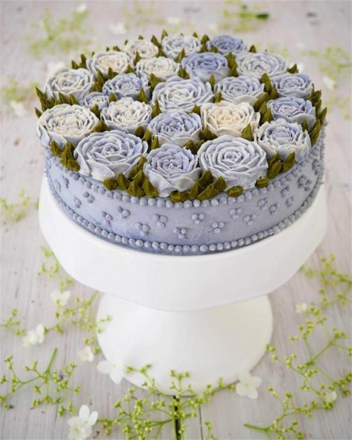 让人心花怒放的花朵蛋糕