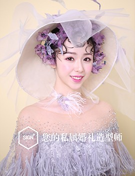 薇拉上善婚纱造型_复古萝莉系列新娘