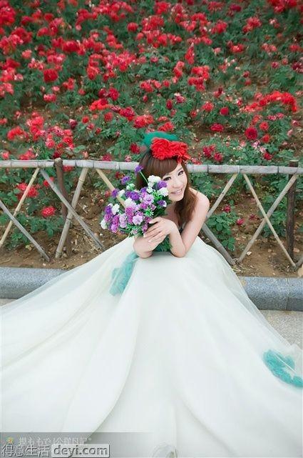 婚礼婚纱照_你的婚礼章若楠婚纱照